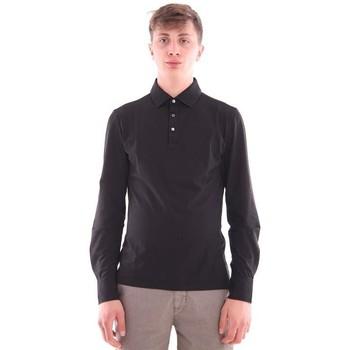 Abbigliamento Uomo Polo maniche lunghe Girelli Bruni POLO  NERA IN COTONE Black