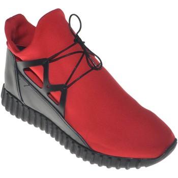 Scarpe Uomo Sneakers basse Made In Italia Scarpe uomo sneakers bassa tomaia in vera pelle e tessuto lycra ROSSO