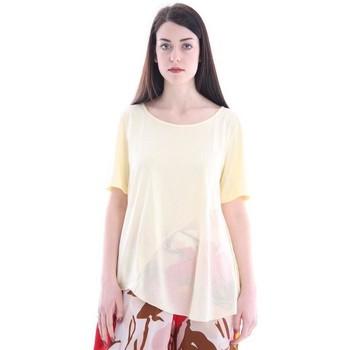 Abbigliamento Donna T-shirt & Polo White.7 T-SHIRT GIALLA CON SCOLLO A BARCA Yellow