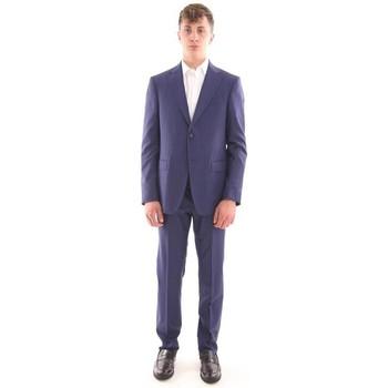 Abbigliamento Uomo Giacche Z Zegna ABITO IN LANA BLU MICRO-PRINCIPE DI GALLES Blue
