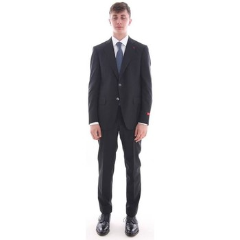 Abbigliamento Uomo Giacche Isaia ABITO NERO IN LANA TASMANIA Black