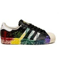 Scarpe Uomo Sneakers basse Adidas Personalizzate Sneakers Adidas Superstar 80s G61069M (gum outsole) PAINTER2 per NERO
