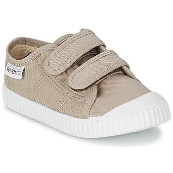 Scarpe Bambino Sneakers basse Victoria BLUCHER LONA DOS VELCROS Beige