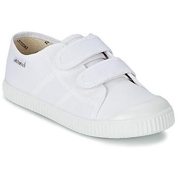 Scarpe Unisex bambino Sneakers basse Victoria BLUCHER LONA DOS VELCROS Bianco