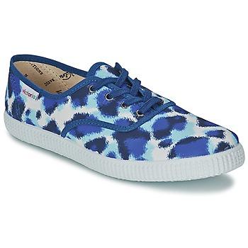 Scarpe Donna Sneakers basse Victoria INGLESA ESTAMP HUELLA TIGRE Blu