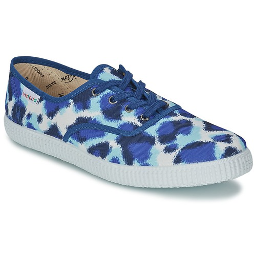 Sneakers Inglesa Estamp Tigre Consegna Victoria Donna Huella Blu Gratuita Scarpe Basse 1950 qSUzMVp