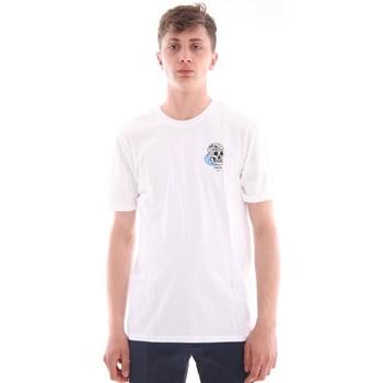 Abbigliamento Uomo T-shirt maniche corte Hurley T-SHIRT BIANCA STAMPA TESCHIO White