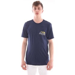 Abbigliamento Uomo T-shirt maniche corte Hurley T-SHIRT BLUE Blue