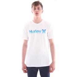 Abbigliamento Uomo T-shirt maniche corte Hurley T-SHIRT BIANCA CON LOGO White