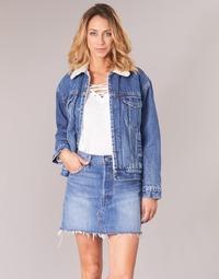 Abbigliamento Donna Giacche in jeans Levi's EX-BF SHERPA TRUCKER Love