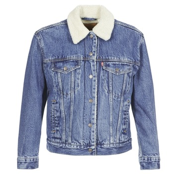 Abbigliamento Donna Giacche in jeans Levi's EX-BF SHERPA TRUCKER Addicted / Love
