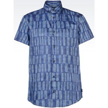 Abbigliamento Uomo Camicie maniche lunghe Armani jeans C6C25 Blu