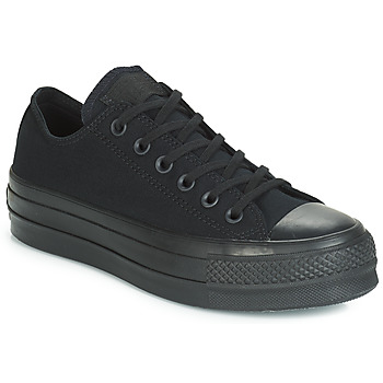 Scarpe Donna Sneakers basse Converse CHUCK TAYLOR ALL STAR CLEAN LIFT MONO CANVAS OX Nero