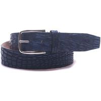 Accessori Uomo Cinture Minoronzoni 1953 Cintura in coccodrillo blu