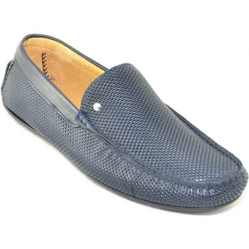Scarpe Uomo Mocassini Interland Scarpe uomo mocassino  da barca modello car shoes slip on made i BLU