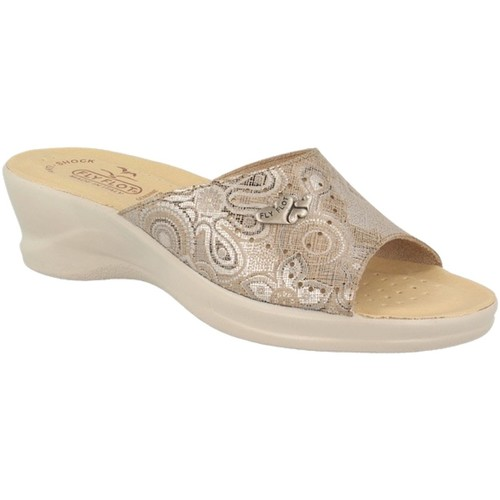 Fly Flot 96A65 HE BEIGE CIABATTE DONNA MADE IN ITALY SOTTOPIEDE ANTISHOC BEIGE - Scarpe Sandali Donna 24,80