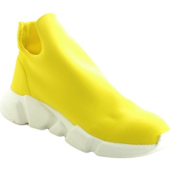 Scarpe Uomo Sneakers basse Made In Italy Scarpe uomo sneakers bassa calzino tessuto lycra giallo made in GIALLO