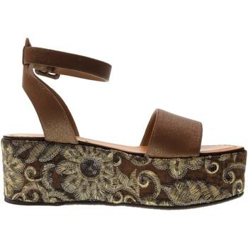 Scarpe Donna Sandali Cris Vergre' scarpe donna sandali H0802X MARRONE Pelle