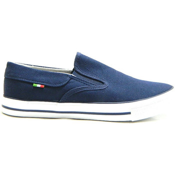 Scarpe Uomo Fitness / Training Axa 78411 Scarpe Uomo in Tela Slip On Canvas Blu BLU