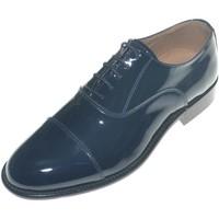 Scarpe Uomo Classiche basse Made In Italy Scarpe uomo stringate classiche con mezza punta in vernice blu BLU