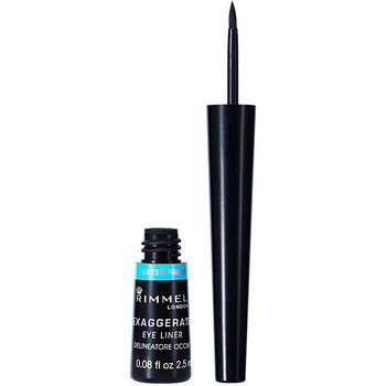 Bellezza Donna Matia per occhi Rimmel London Exaggerate Liquid Eye Liner Waterproof 003-black 2,5 ml