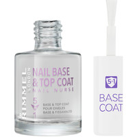 Bellezza Donna Smalti Rimmel London Nail Nurse Care Base & Top Coat 5en1  12 ml