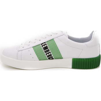 Scarpe Uomo Sneakers basse Bikkembergs COSMOS 2096 LOW SHOE M LEAHTER WHITE/GRE MULTICOLOR