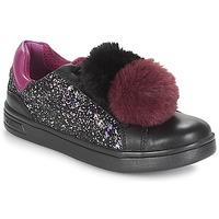 Scarpe Bambina Sneakers basse Geox J DJROCK GIRL Nero / Viola