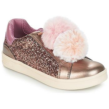 Scarpe Bambina Sneakers basse Geox J DJROCK GIRL Beige / Rosa