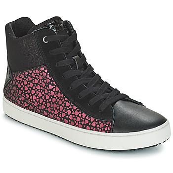 Scarpe Bambina Sneakers alte Geox J KALISPERA GIRL Nero / Rosa