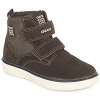 Scarpe Bambino Sneakers alte Geox J RIDDOCK BOY Marrone / Marine