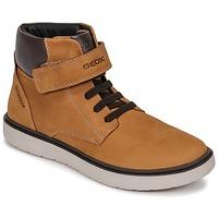 Scarpe Bambino Sneakers alte Geox J RIDDOCK BOY WPF Giallo