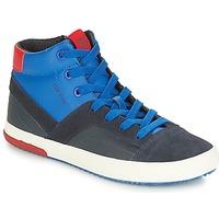 Scarpe Bambino Sneakers alte Geox J ALONISSO BOY Marine / Rosso