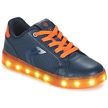 Scarpe Bambino Sneakers basse Geox J KOMMODOR BOY Marine / Arancio