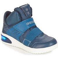 Scarpe Bambino Sneakers alte Geox J XLED BOY Marine