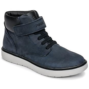 Scarpe Bambino Sneakers alte Geox J RIDDOCK BOY WPF Marine
