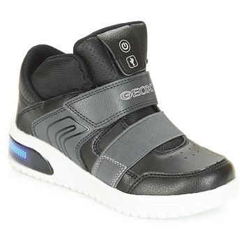 Scarpe Bambino Sneakers alte Geox J XLED BOY Nero