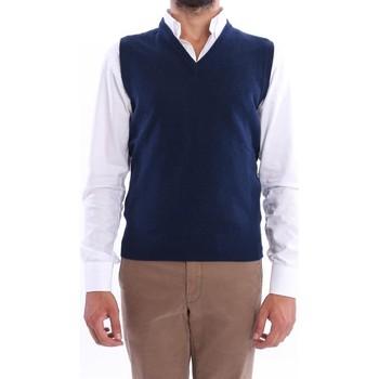 Abbigliamento Uomo Gilet / Cardigan Altea GILET  UOMO IN LANA BLU Blue