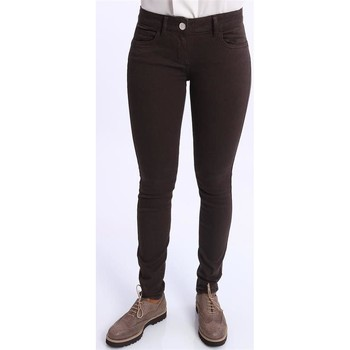 Abbigliamento Donna Chino Seventy PANTALONI SLIM MARRONI Brown