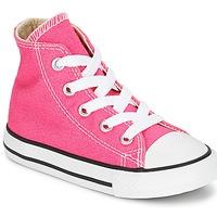 Scarpe Bambina Sneakers alte Converse Chuck Taylor All Star SEASON HI Rosa