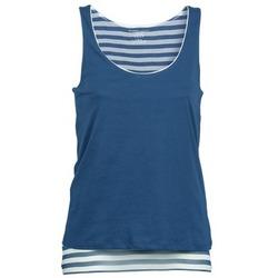 Abbigliamento Donna Top / T-shirt senza maniche Majestic BLANDINE Marine / Bianco