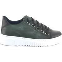 Scarpe Uomo Sneakers basse Malu Shoes Sneakers bassa uomo verde fondo doppio army vera pelle nappa rip VERDE