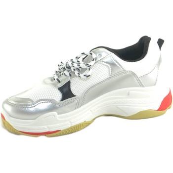 Scarpe Donna Sneakers basse Malu Shoes SNEAKER DONNA BIANCO MODELLO RUNNING FONDO BIANCO ALTO UNDREGRO BIANCO