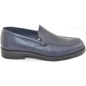 Scarpe Uomo Mocassini Malu Shoes Scarpe uomo mocassini inglese college vera pelle crust blu made BLU