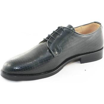 Scarpe Uomo Derby Malu Shoes Scarpe uomo fondo gomma antiscivolo vera pelle abrasivato nero NERO