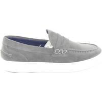 Scarpe Uomo Slip on Malu Shoes Scarpe uomo mocassino slip-on grigio vera pelle fondo bianco  g GRIGIO