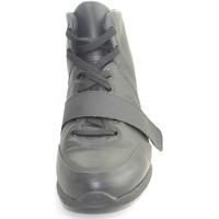 Scarpe Uomo Sneakers alte Made In Italia Scarpe uomo tomaia in vera pelle  gommato a contra NERO