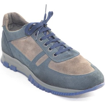 Scarpe Uomo Sneakers basse Made In Italia Scarpe uomo man  fondo antiscivolo moda maschile l BLU
