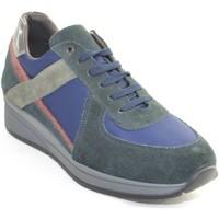 Scarpe Uomo Sneakers basse Made In Italia Scarpe uomo  moda maschile linea comfort fondo ant BLU