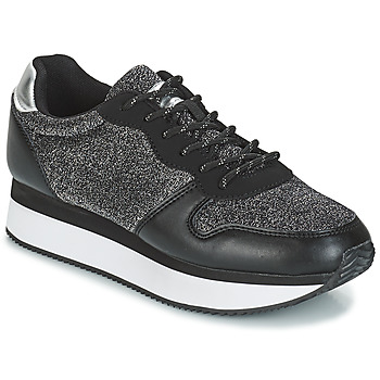 Scarpe Donna Sneakers basse André TYPO Nero / Argento